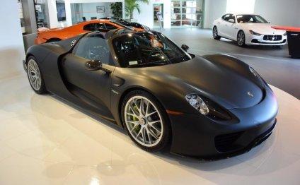Stealthy Matte Black Porsche