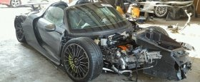 A Little Totaled Porsche 918 Spyder Appears at Salvage Auction