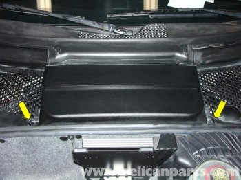 battery pack is found in the front trunk area storage space regarding the Carrera.